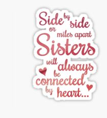 Sisters Side by Side Sticker