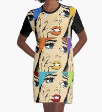 Retro-Sammlung von Romantik Comic T-Shirt Kleid