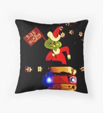 Happy Grinchmas Throw Pillow
