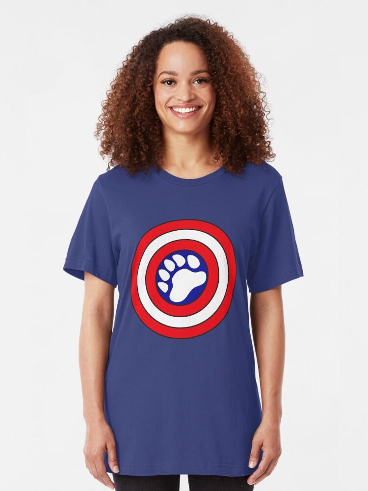 Alternative Ansicht von Kapitän Bearmerica Slim Fit T-Shirt