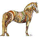"""""""Copper Stallion"""" by Winterberry  Farm Studio"""