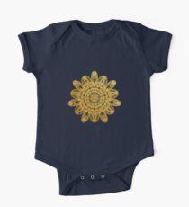 golden flower mandala Kids Clothes