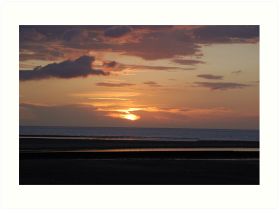 Sunset @ Rhyl Beach 2 by JImage
