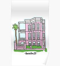 Charleston Pink Barbie House Poster