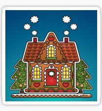 Christmas Cottage Sticker