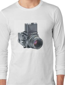 Zenza Bronica ETRSi Medium Format Film Camera & 75mm Lens Vintage / Retro / Analogue photography / Old School Pro! Long Sleeve T-Shirt