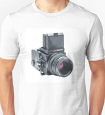 Zenza Bronica ETRSi Medium Format Film Camera & 75mm Lens Vintage / Retro / Analogue photography / Old School Pro! Unisex T-Shirt
