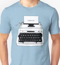 Write On Typewriter Slim Fit T-Shirt