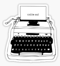 Write On Typewriter Sticker