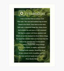 Lámina artística Breaking Bad - Poema de Ozymandias