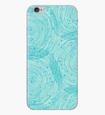 Turquoise spirals  iPhone Case