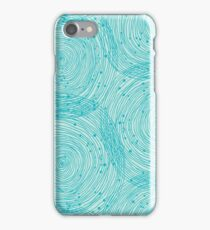 Turquoise spirals  iPhone Case/Skin