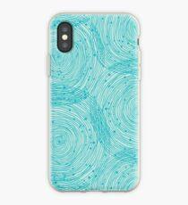 Vinilo o funda para iPhone Espirales turquesas