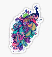 Paisley Peacock Sticker
