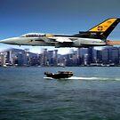 Tornado visiting Hong Kong by Bob Martin