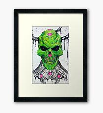 Brainic Skull Framed Print