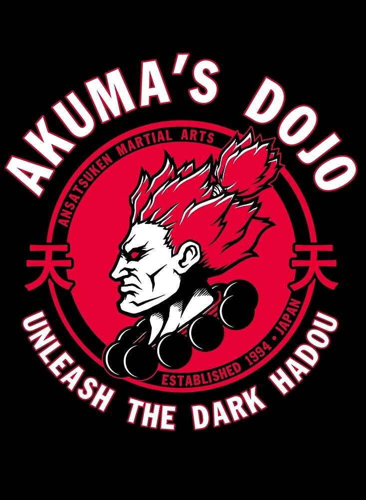 AKUMA dojo Gouki tee street fighter martial arts game by PETERCNC