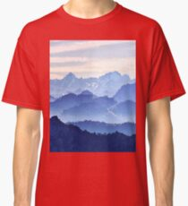 Fractal Scapes - Misty Mountains Classic T-Shirt