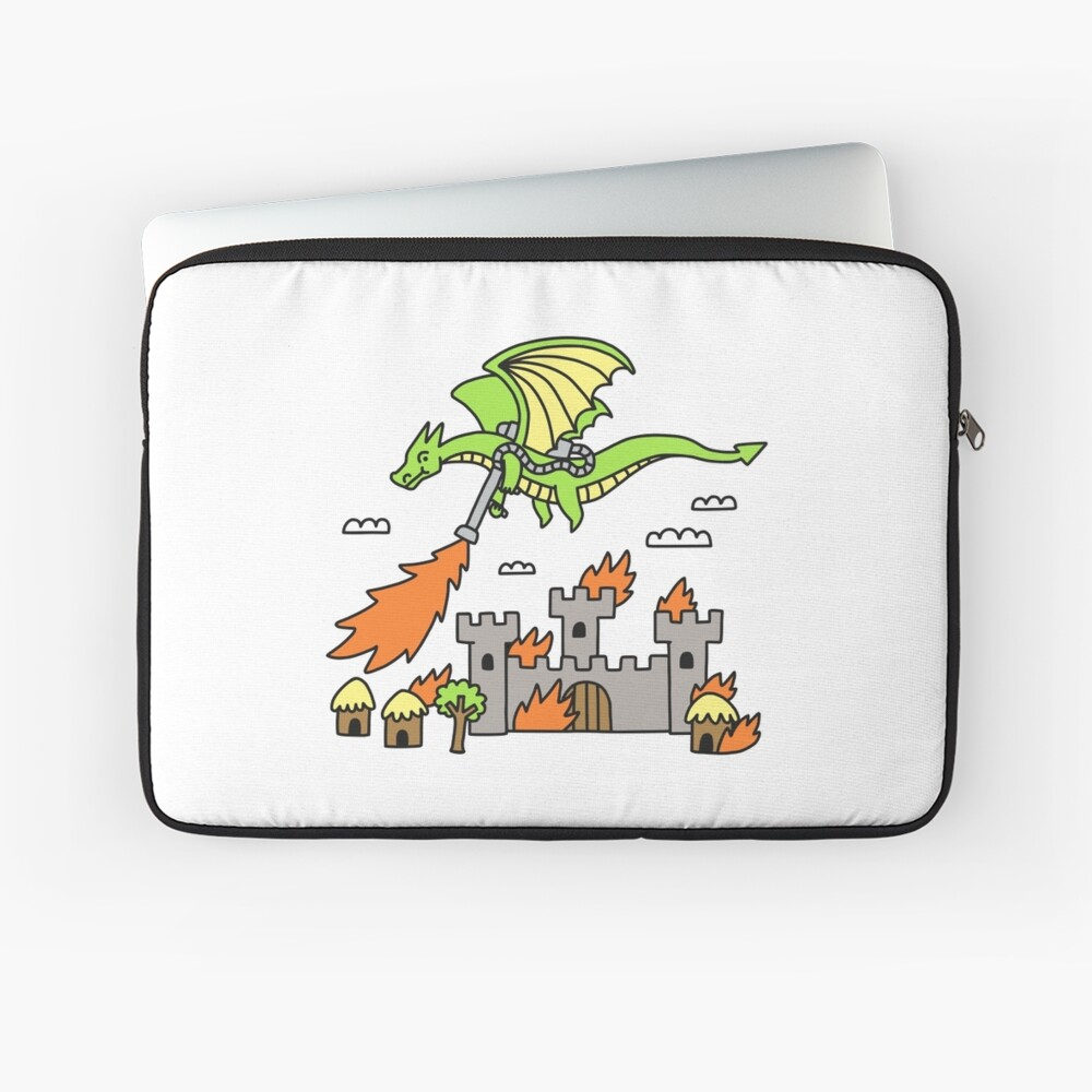 Dragon With A Flamethrower Laptop Sleeve