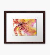 Watercolor Autumn Leaves Framed Print
