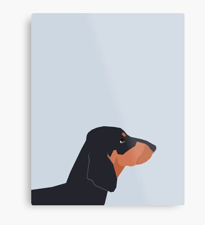 Dakota - Dachshund phone case fun and bright for pet lovers and gift for dog people Metal Print