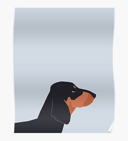 Dakota - Dachshund phone case fun and bright for pet lovers and gift for dog people Poster
