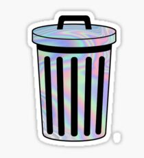 Holographic Trash Can Sticker