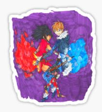 Fire and Ice Sticker