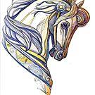 """""""Flight of Fancy Carousel Horse"""" by Winterberry  Farm Studio"""