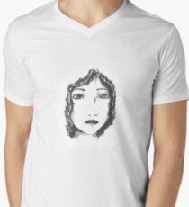 Ink woman Men's V-Neck T-Shirt