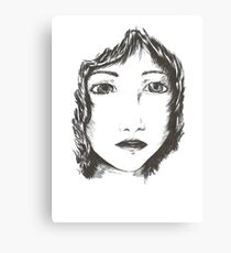 Ink woman Canvas Print