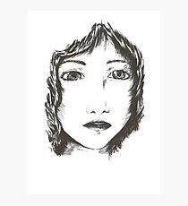 Ink woman Photographic Print