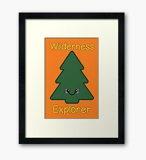 Wilderness Explorer Pine Tree Framed Print