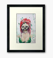 Poison Ivy Skull Framed Print