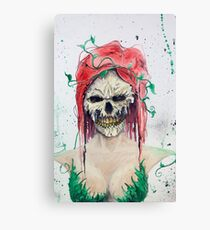 Poison Ivy Skull Canvas Print
