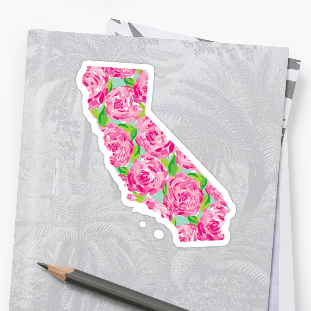 Kalifornien Lilly Rosen Sticker