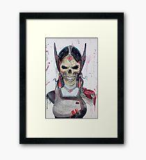 Symmetra Skull Framed Print