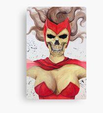 Scarlet Skull Canvas Print