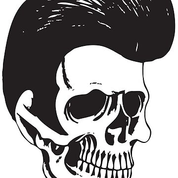 Rockabilly Skull by alloallo82