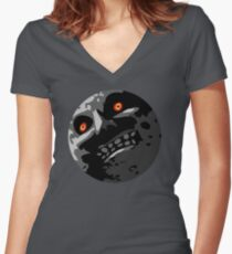 Moon 2 Women's Fitted V-Neck T-Shirt