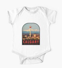 Calgary Alberta Canada Vintage Travel Decal Kids Clothes