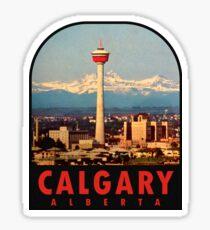 Calgary Alberta Canada Vintage Travel Decal Sticker