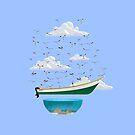 Boat and Birds by erdavid