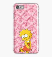 Pink Goyard Killa Bart iPhone Case/Skin