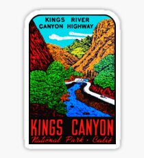 Kings Canyon National Park Vintage Travel Decal Sticker