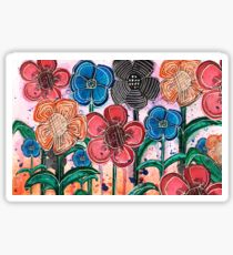 Bunches of Flowers Sticker