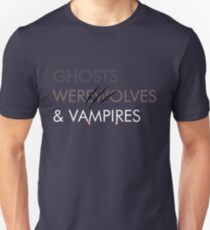 Ghosts, Werewolves & Vampires Unisex T-Shirt