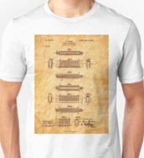 Hohner Harmonica 1900 Patent Art Unisex T-Shirt