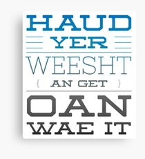 Traditional Scottish Words Canvas Prints | Redbubble