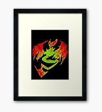 The Fire And Fury Framed Print